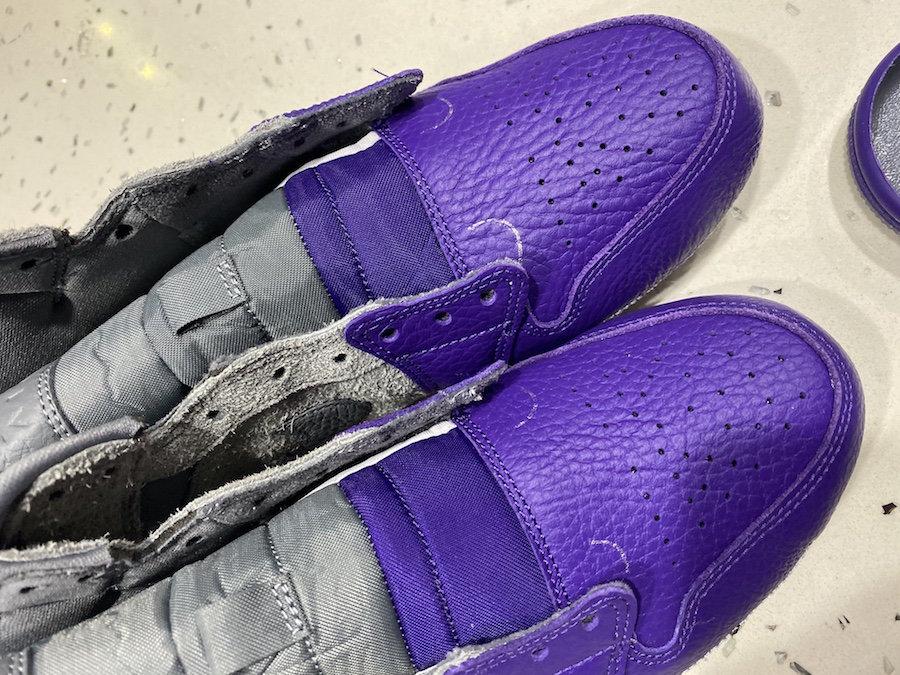 Sheila Rashid,AJ1,Air Jordan 1 另类紫脚趾设计!这双 Sheila Rashid x AJ1 Mid 太独特了!