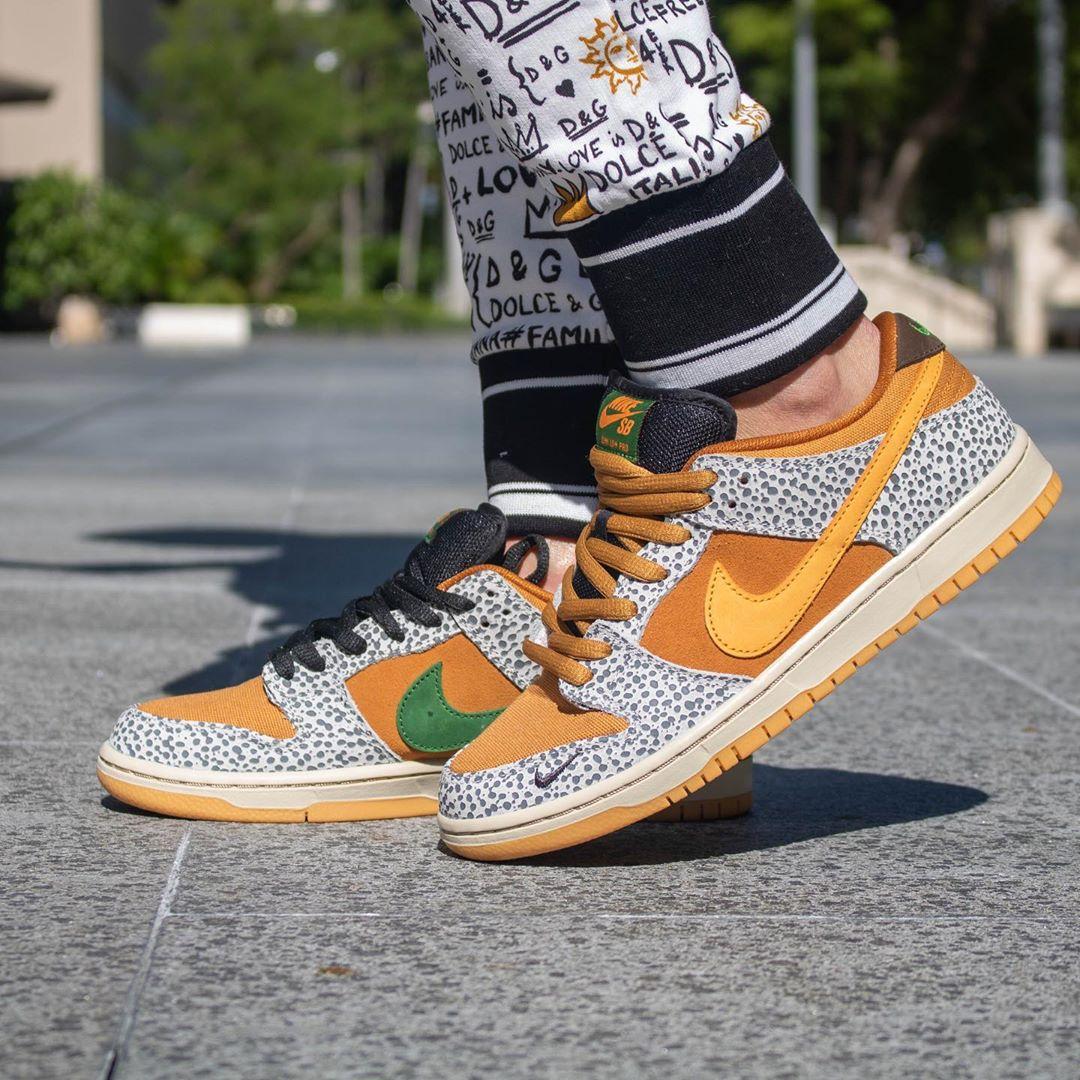 Dunk SB,Nike,safari,发售 已列入出必入榜单!骚气十足的「石斑纹」Dunk SB 上脚来了!