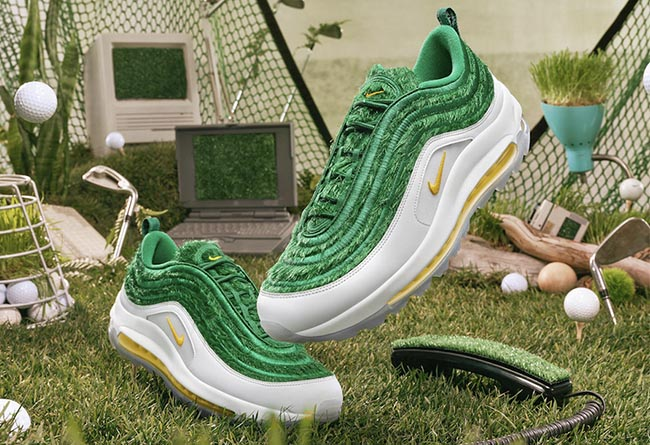 "Nike Air Max 97 Golf ""Grass"" 货号:CK4437-100"