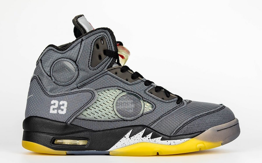 OW,AJ5,OFF-WHITE,Air Jordan 5, 详细日期公布!鞋盒曝光!OW x Air Jordan 5 下月发售!