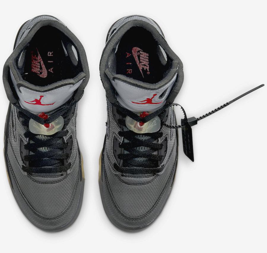 CT8480-001,AJ5,Air Jordan 5 CT8480-001 特殊鞋盒太酷了吧!OW x AJ5 官图来了!细节看个够!