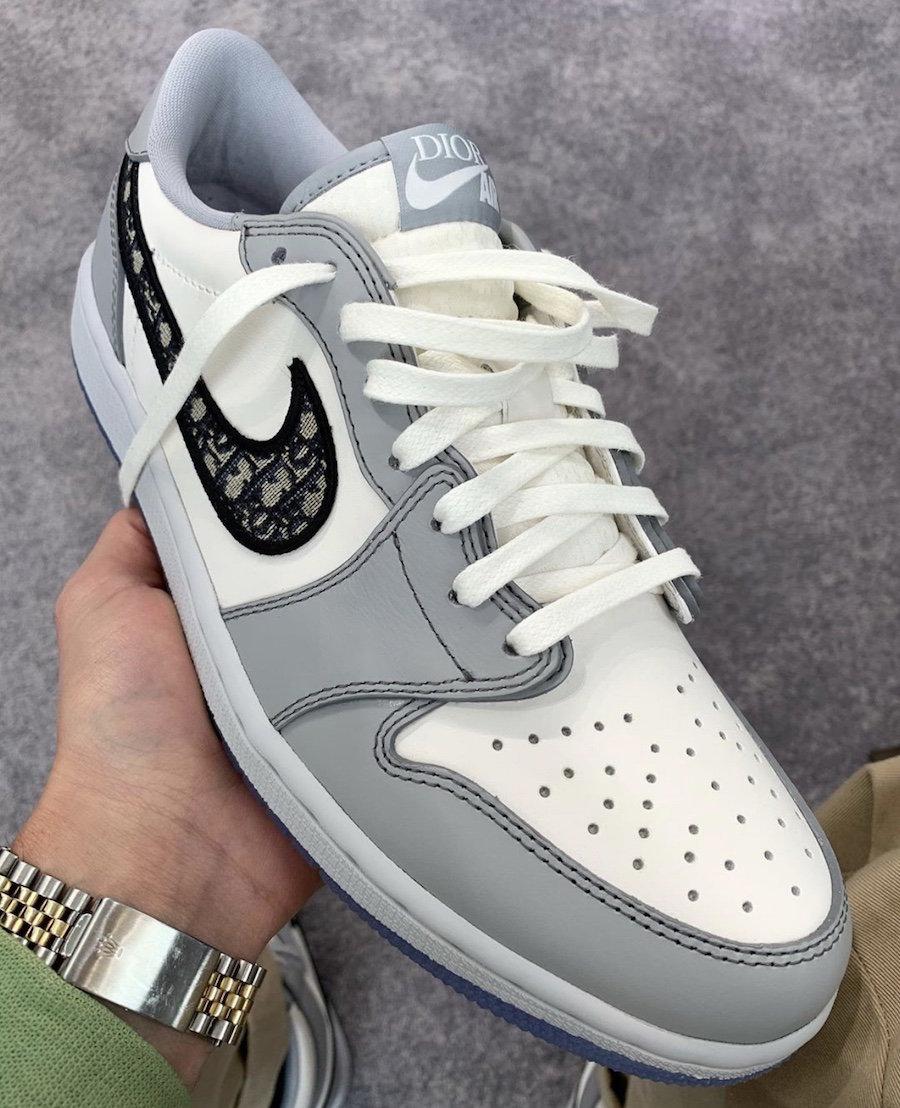 Dior,AJ1,Air Jordan 1 Low 低帮版同样诱人!Dior x Air Jordan 1 Low 全方位图赏来了!