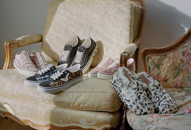 Vans,Sandy Liang,发售 豹纹、水钻、天鹅绒齐上阵!Vans 带来高颜值联名系列