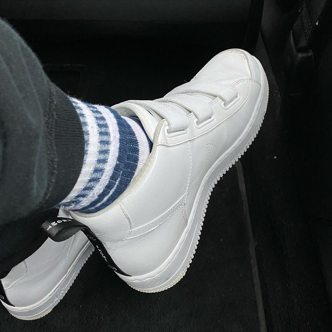 AJ34,Air Jordan 34,Nike,明星,上脚 全新闪电联名实物曝光!藤原浩亲晒联名 AJ34 和 Nike 小白鞋!