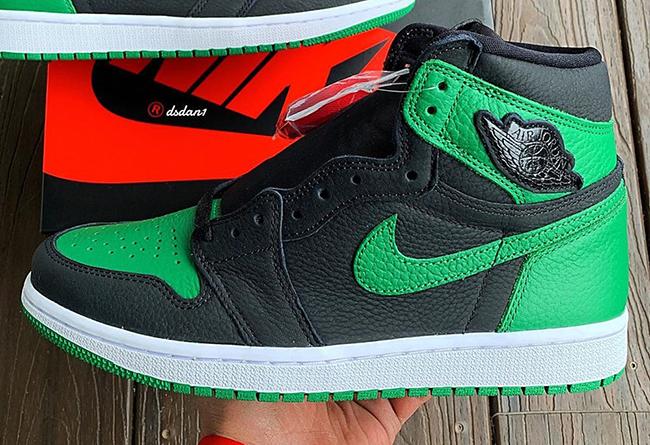 AJ,AJ1,Air Jordan 1 High OG,Pi 最新实物图曝光!黑绿 Air Jordan 1 预计将于本月发售!