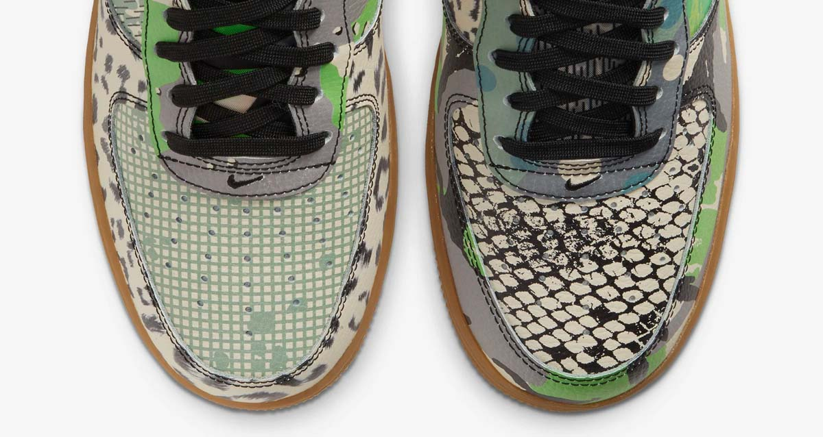 Nike,AF1,CT8441-002,发售,  狂野十足的拼接花纹!芝加哥主题 AF1 下周发售!
