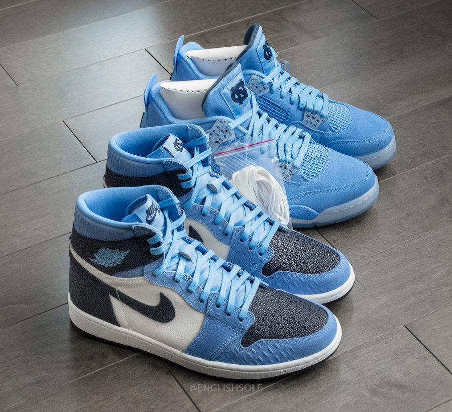 Air Jordan 1,UNC,PE,发售 这才是神级球鞋!北卡 Air Jordan 1 PE 实物美图抢先看!