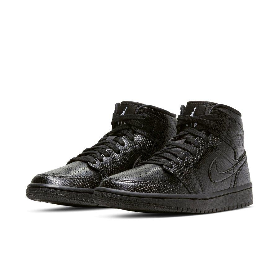 Air Jordan 1 Mid,AJ1 Mid,发售 蛇纹 Air Jordan 1 Mid 官图释出!黑白双煞看着太野了!