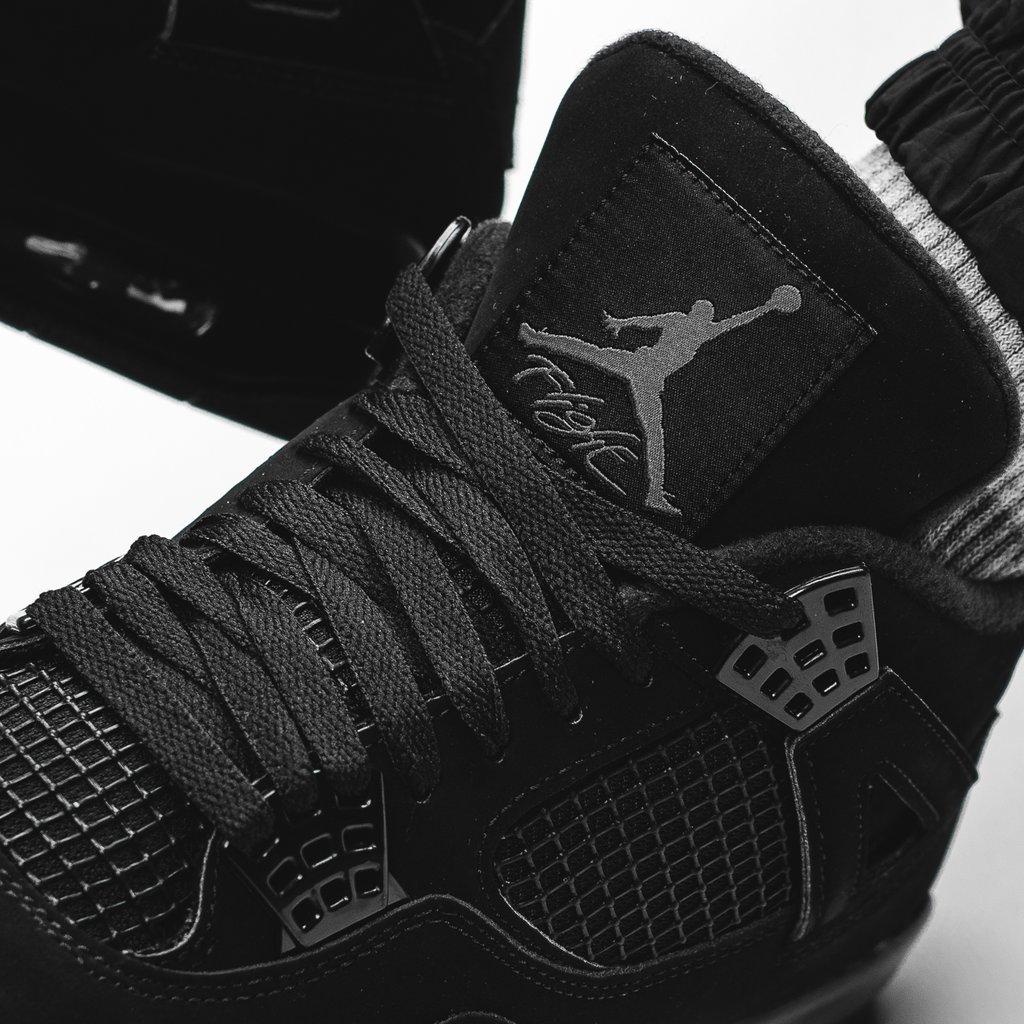 AJ4,Black Cat,Air Jordan 4,CU1 埃米纳姆上脚「黑猫」AJ4!目前略高于原价,入手好时机!