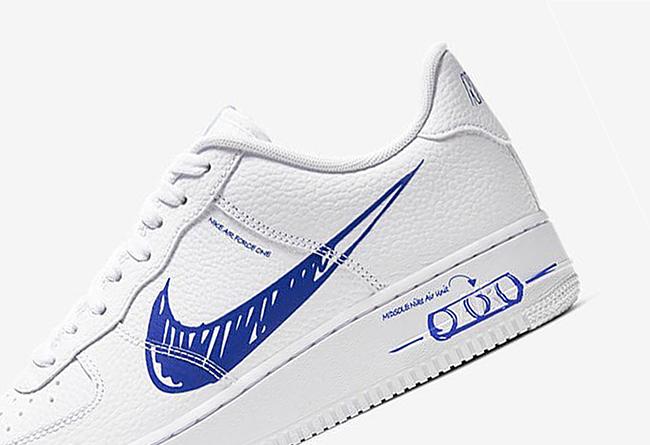 Nike,Air Force 1 Swoosh Logo 太特别!全新手绘风格 Air Force 1 官图释出!
