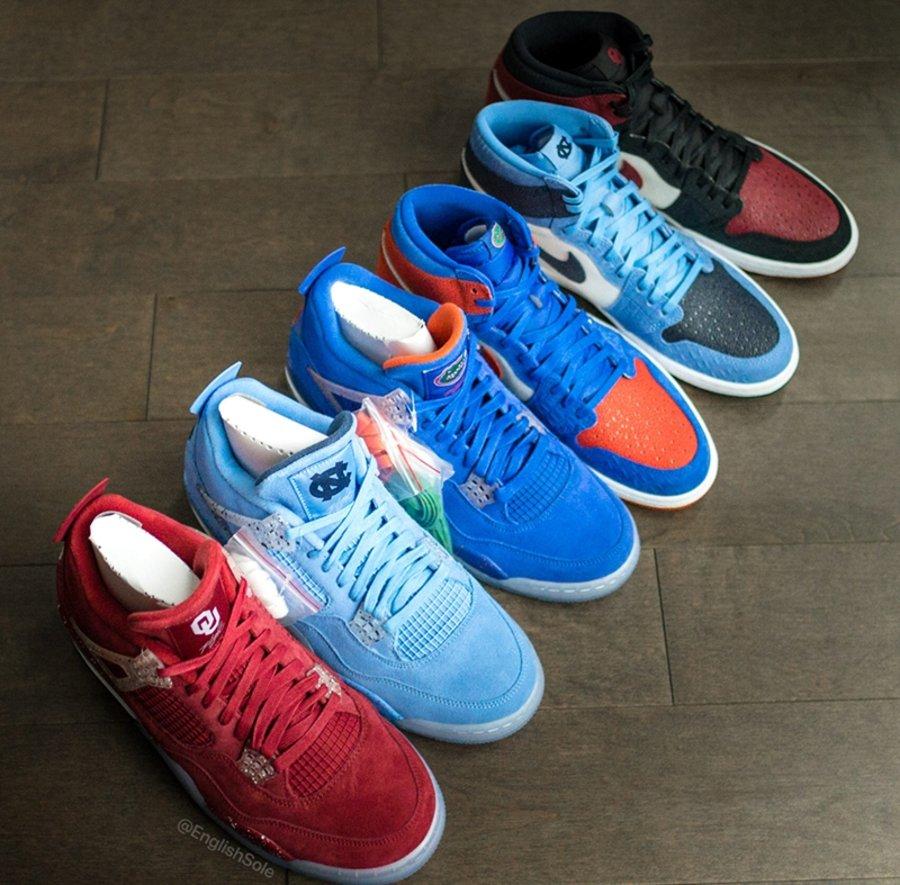 Air Jordan 1,Air Jordan 4,NCAA 千金难求!如果这些 AJ 大学 PE 市售,你想要哪双?