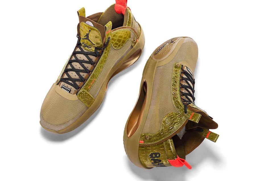 Air Jordan 34,AJ34,发售,明星,上脚,DA  凶猛鳄鱼主题!Zion 全新 Air Jordan 34 PE 下月发售!