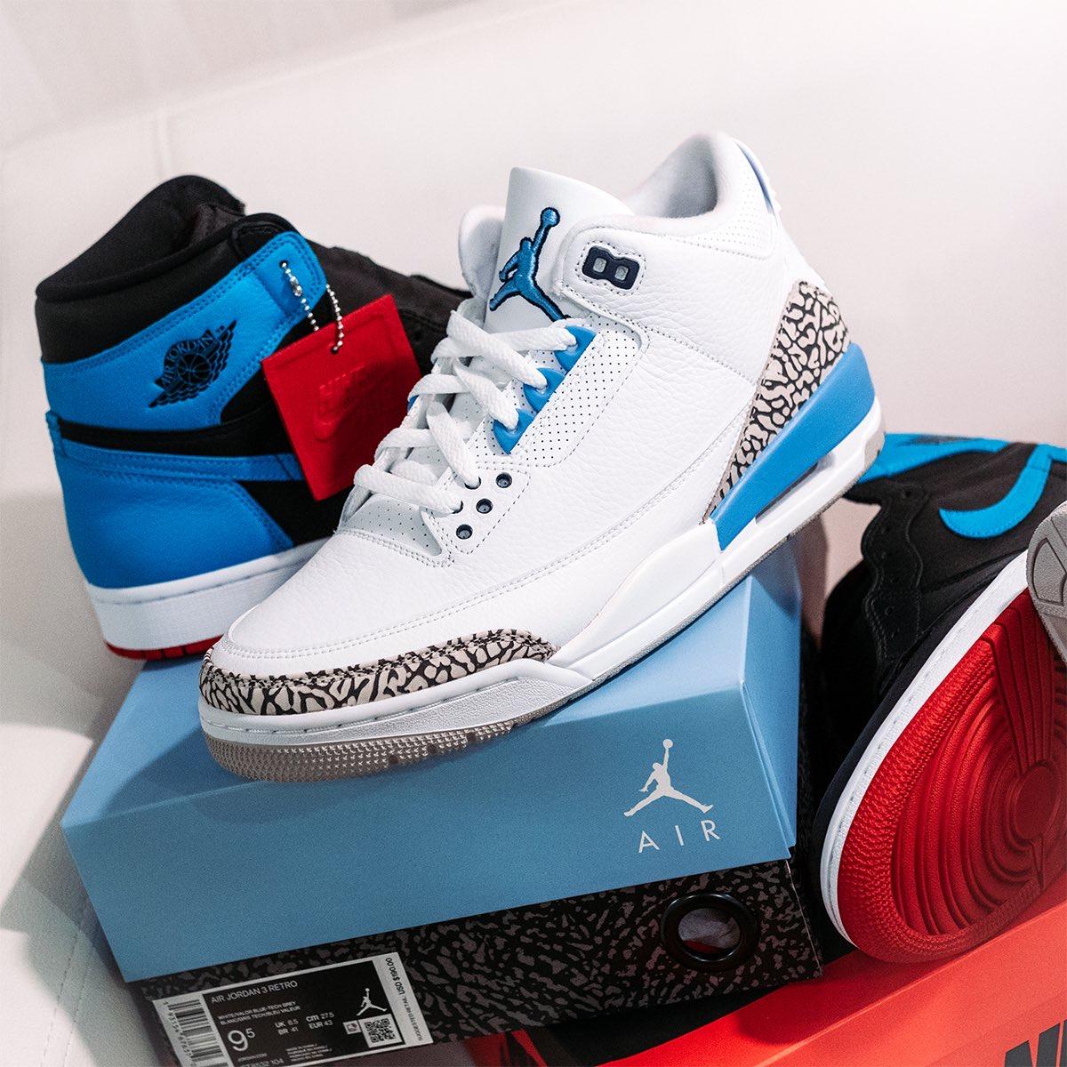 AJ3,Air Jordan 3,CT8532-104,发售 曾经的天价 PE 配色,还是全新鞋盒!北卡 AJ3 最新实物谍照释出!