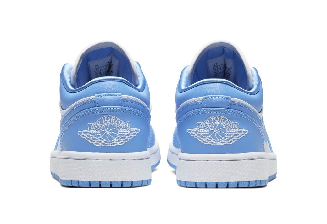 AJ1,Air Jordan 1,Air Jordan 1 AJ1 标准 UNC 配色!北卡蓝 Air Jordan 1 Low 又来了!
