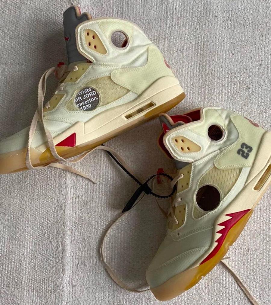 CT8480-100,AJ5,Air Jordan 5 CT8480-100 这就是 OW x AJ5 下一个配色!?Virgil 本人亲晒!