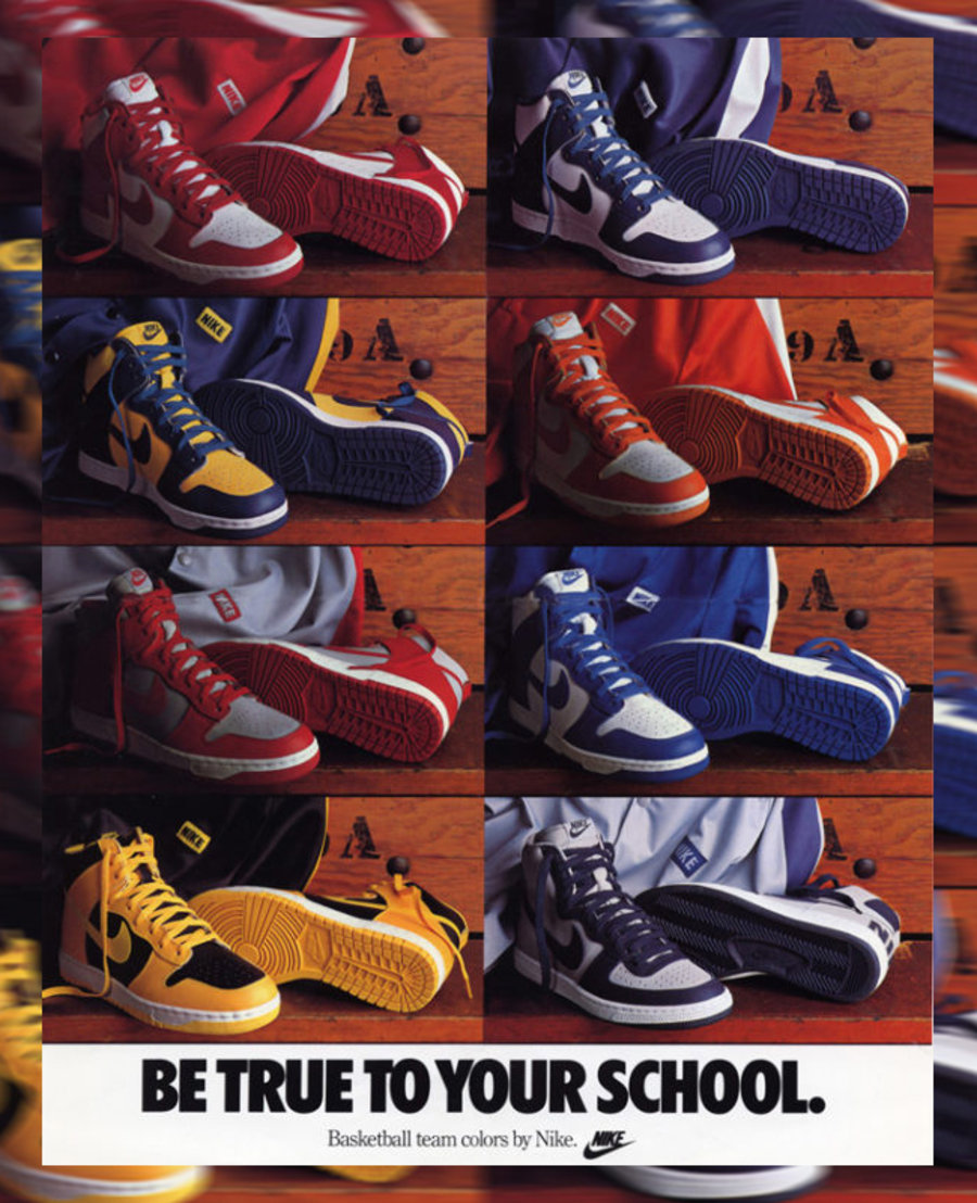 Dunk,Be Yrue To Your School,Ni  武当、OW 联名 Dunk 的原型!35 年前的神物套装传言复刻!