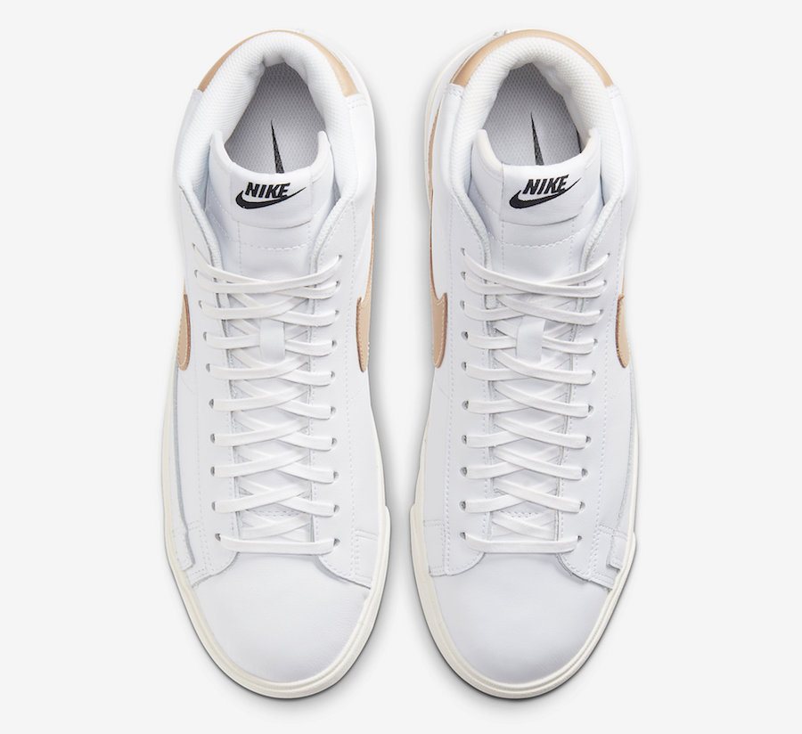 "Nike,Blazer Mid,发售,CU6679-001, 高规格皮革打造!Nike Blazer Mid ""Patina"" 系列即将发售"