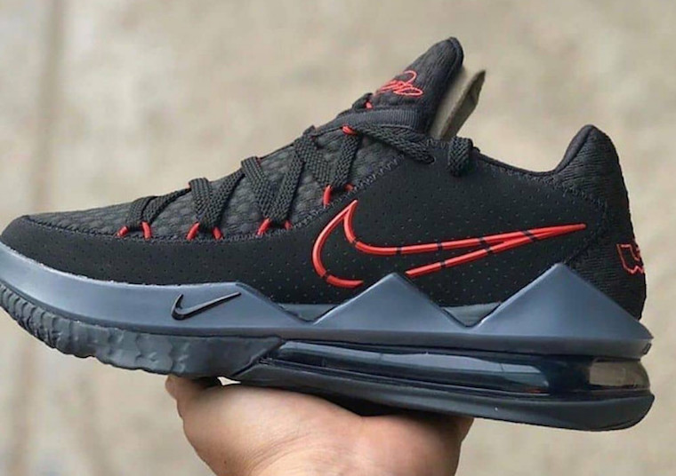 Nike,LeBron 17 Low,CD5007-001, 经典黑红配色!全新 LeBron 17 Low 下月发售!