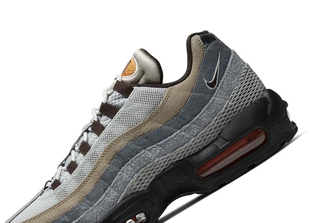 Nike,Air Max 95 Nike 也有「灰橙」配色!这双 Air Max 95 表现相当抢眼!