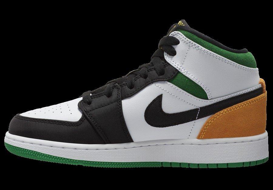 AJ1,MID,BQ6931-101,发售 黑脚趾构色!全新配色 Air Jordan 1 Mid 即将发售!