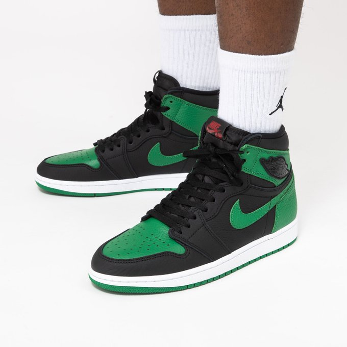 "莆田鞋-Air Jordan 1 Retro High OG ""Pine Green"" 货火博体育app:555088-030 / 575441-030(GS)插图(3)"