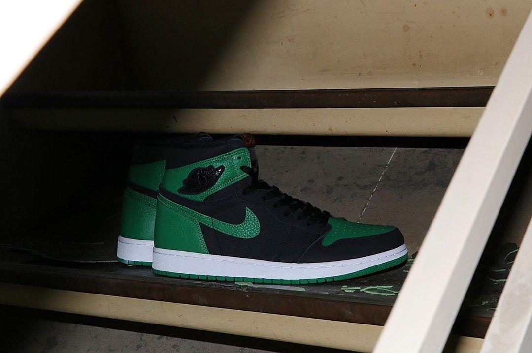"莆田鞋-Air Jordan 1 Retro High OG ""Pine Green"" 货火博体育app:555088-030 / 575441-030(GS)插图(1)"