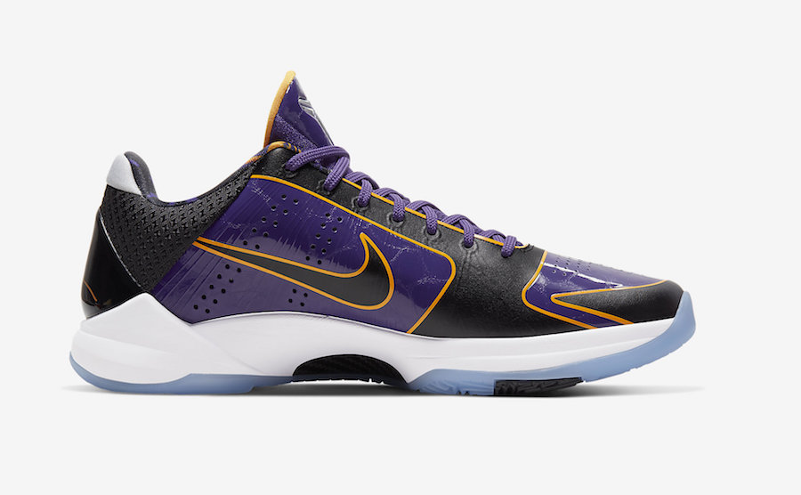 CD4991-500,Kobe 5,Nike CD4991-500 纯正紫金血统!湖人配色 Kobe 5 发售日期确定了!
