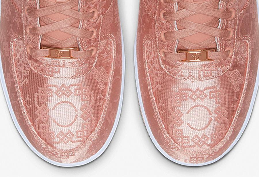 CLOT,AF1,Air Force 1,发售  玫瑰金丝绸 CLOT x AF1 官网预告!本周四正式发售