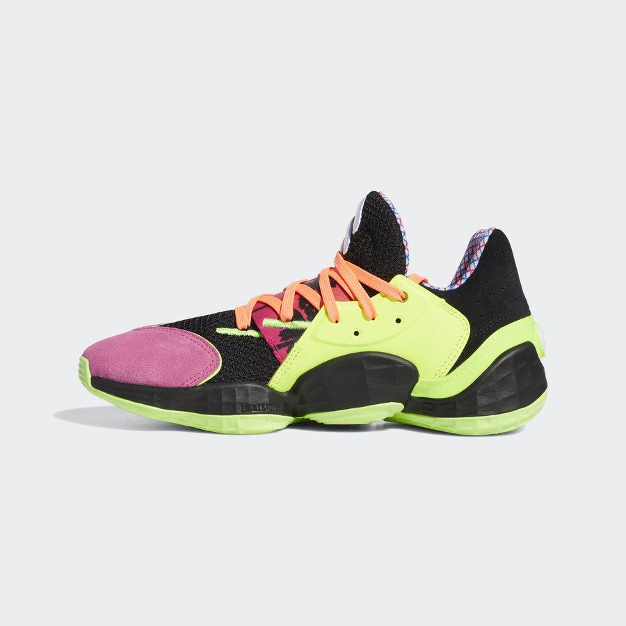 adidas,Harden Vol.4 炫彩霓虹装扮!adidas Harden Vol.4 新配色官图释出