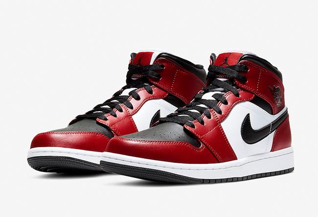 AJ1,554724-069,Air Jordan 1 Mi  融合两大 OG 配色!这双 Air Jordan 1 Mid 估计很抢手!