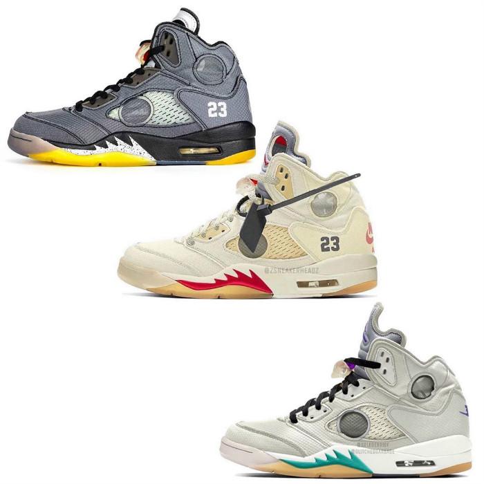 OFF-WHITE,AJ5,AJ4,Nike  六款 OW x AJ 確定發售!最想要的白黃 AJ1 也差不多穩了!