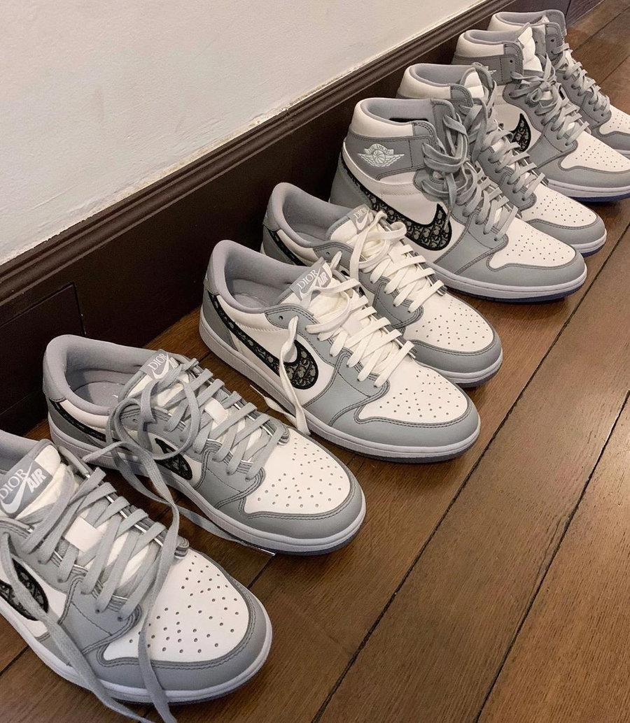 Dior,AJ1,Air Jordan 1,发售  低帮 Dior x AJ1 Low 货量更稀有!将于五月底抽签发售