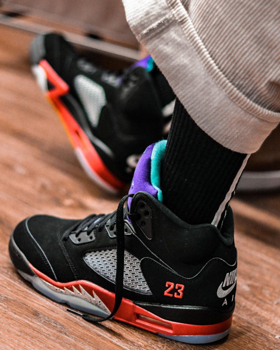 "Air Jordan 5,AJ5,发售,上脚,CZ1786-  质感出众!Air Jordan 5 ""Top 3"" 上脚美图来了!5 月发售!"
