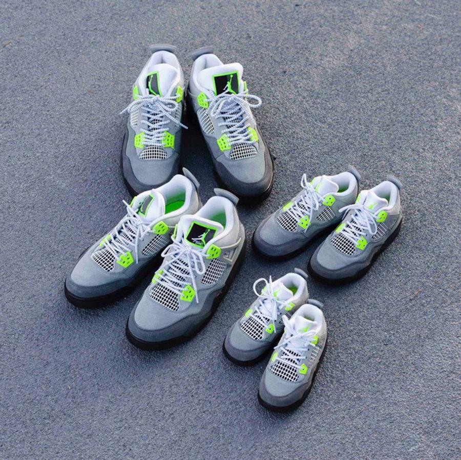 "AJ,AJ4,Air Jordan 4 SE,Neon,CT  Air Jordan 4 ""Neon"" 日本地区本周发售!居然还有全家族尺码!"