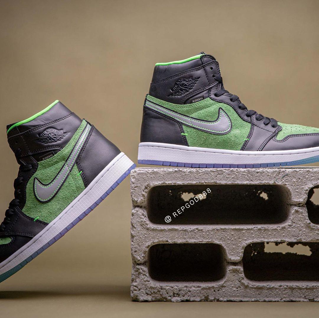 AJ1,Air Jordan 1,CK6637-300,发售  全新 Air Jordan 1 Zoom 上脚首次曝光!看完又真香了...