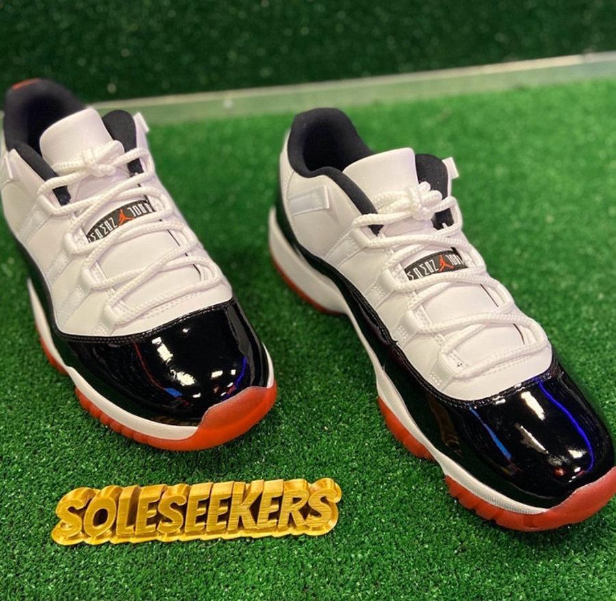 "莆田鞋-Air Jordan 11 Low ""White Bred"" 货号:AV2187-160插图(1)"