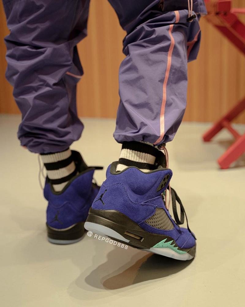 AJ5,Air Jordan 5,Alternate Gra  紫葡萄 Air Jordan 5 实物上脚曝光,确定 6 月发售!
