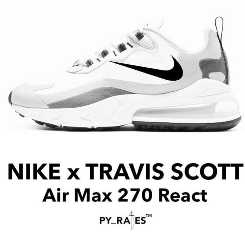 Travis Scott,Air Max 270 React  Travis Scott 新反鉤上腳!不過 ...