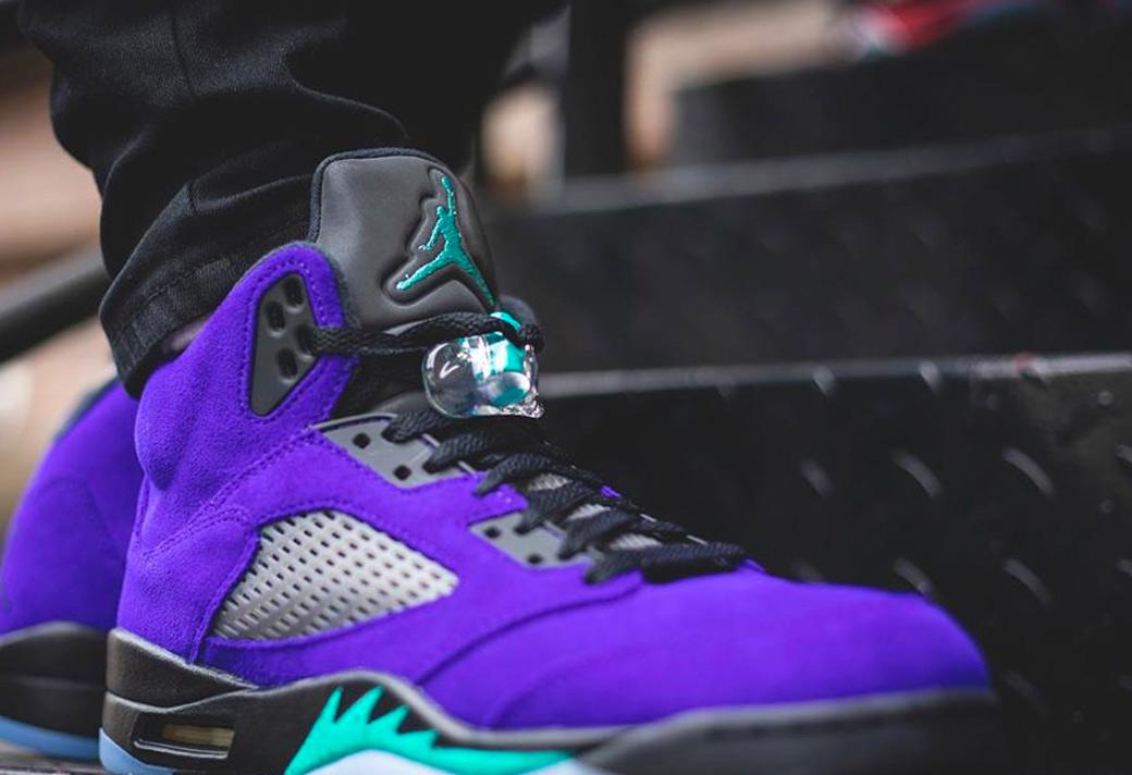 136027-500,AJ5,Air Jordan 5 136027-500 AJ5 新紫葡萄 Air Jordan 5 上脚图来了!真的有点亮骚!