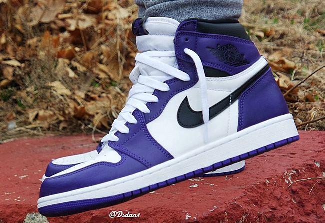 Air Jordan 1 High OG,AJ1,Court  全新紫脚趾 AJ1 上脚图来了,下月就发售!