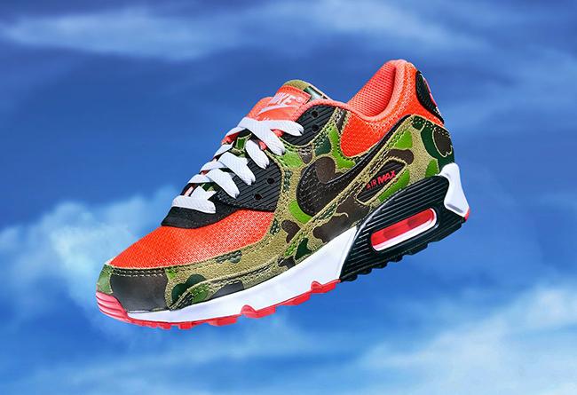 Nike,Air Max 90,发售  神物配色反转回归!猎鸭迷彩 Air Max 90 本周四发售