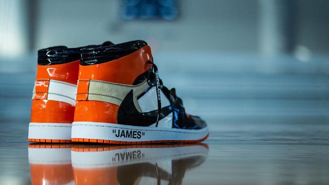 AJ1,Air Jordan 1,OFF-WHITE,Tra  驚現反鉤 OFF-WHITE x AJ1!詹姆斯兒子已經上腳
