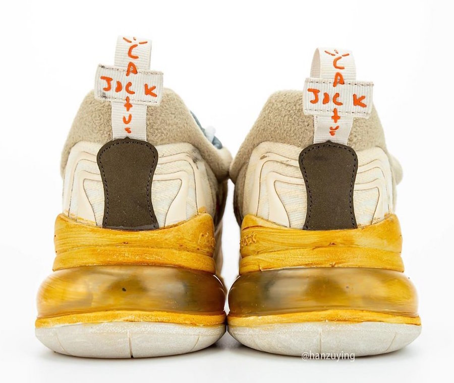 Travis Scott x Nike Air Max 270 React 延期发售!预计 5 月登场!