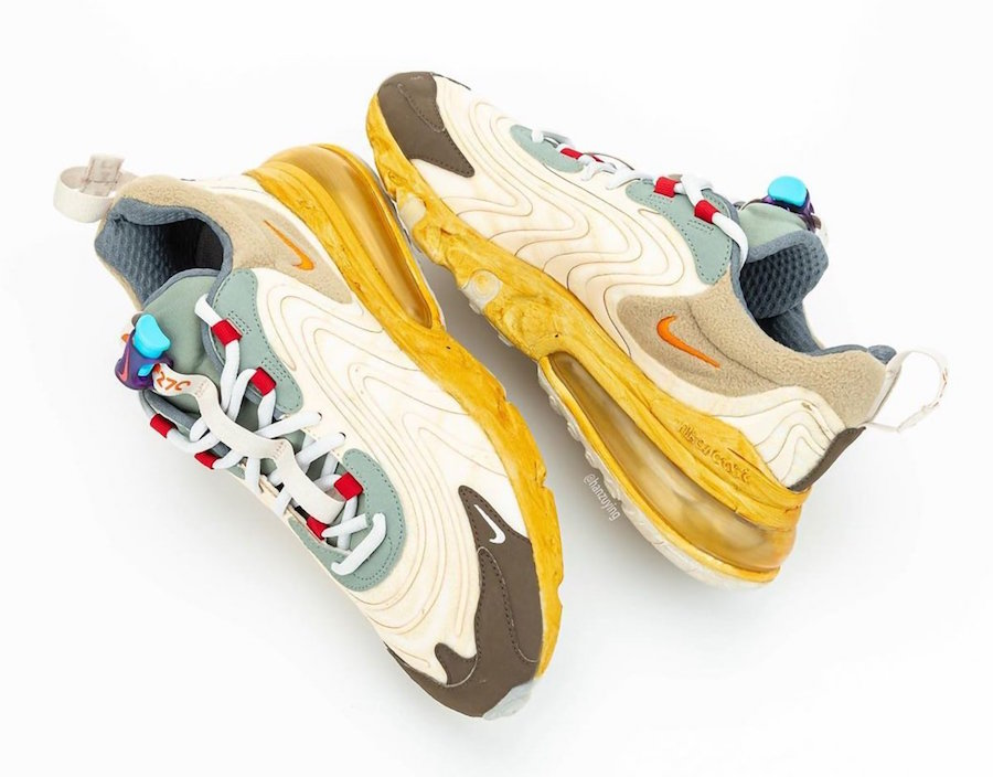 Travis Scott x Nike Air Max 270 React 延期发售!预计 5 月登场!