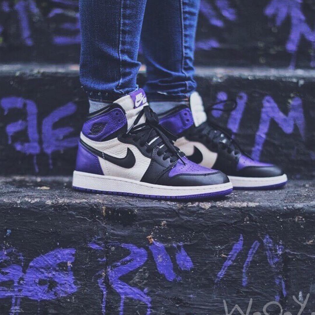 Air Jordan 1,AJ1,發售  天貓鏈接剛剛釋出!白紫腳趾 Air Jordan 1 本周六發售!