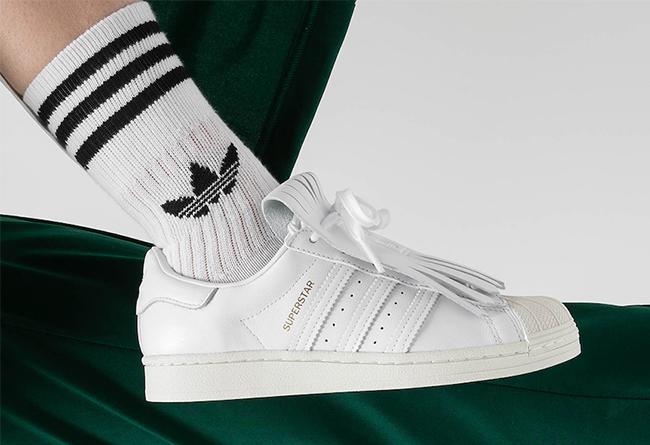Superstar,adidas,发售  复古流苏造型!贝壳头 Superstar 小白鞋迎来全新升级!