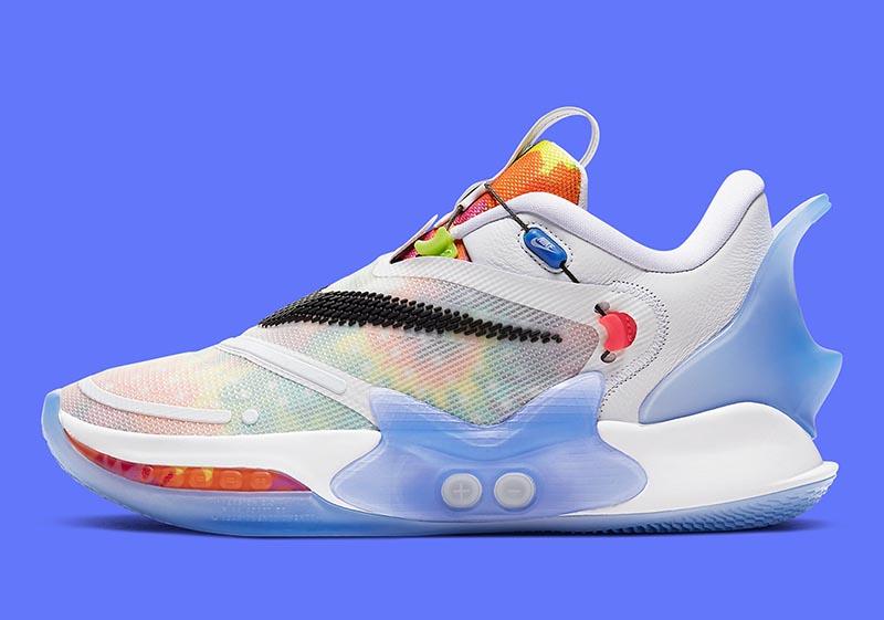Nike,Adapt BB 2.0,Tie Dye,BQ53  嫌「自动系带」样子丑?这个新配色让你一秒种草!