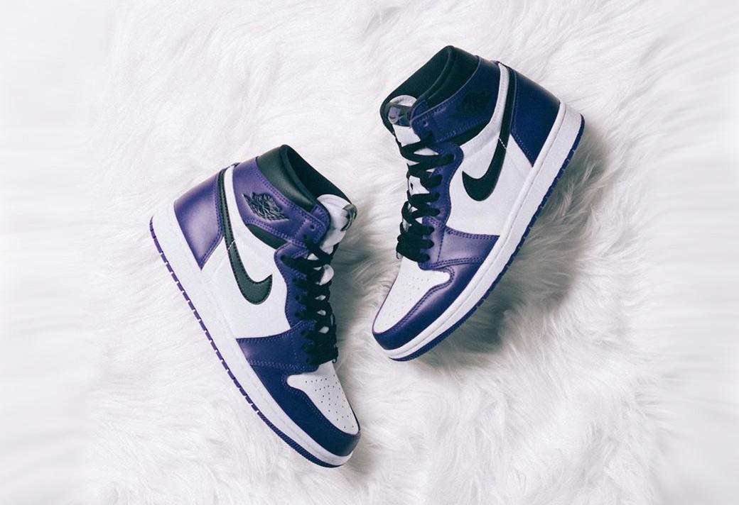 555088-500,AJ1,Air Jordan 1 555088-500 AJ1 白紫 Air Jordan 1 今早发售,你抢到了吗?