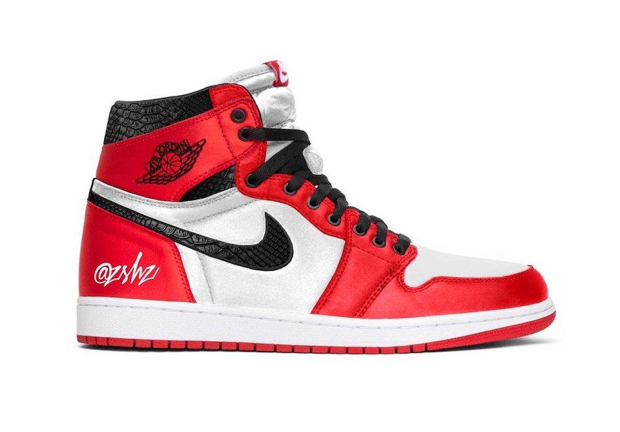 AJ1,Air Jordan 1,CD0461-601,发售  丝绸蛇纹芝加哥 AJ1 首次曝光!今年八月发售!