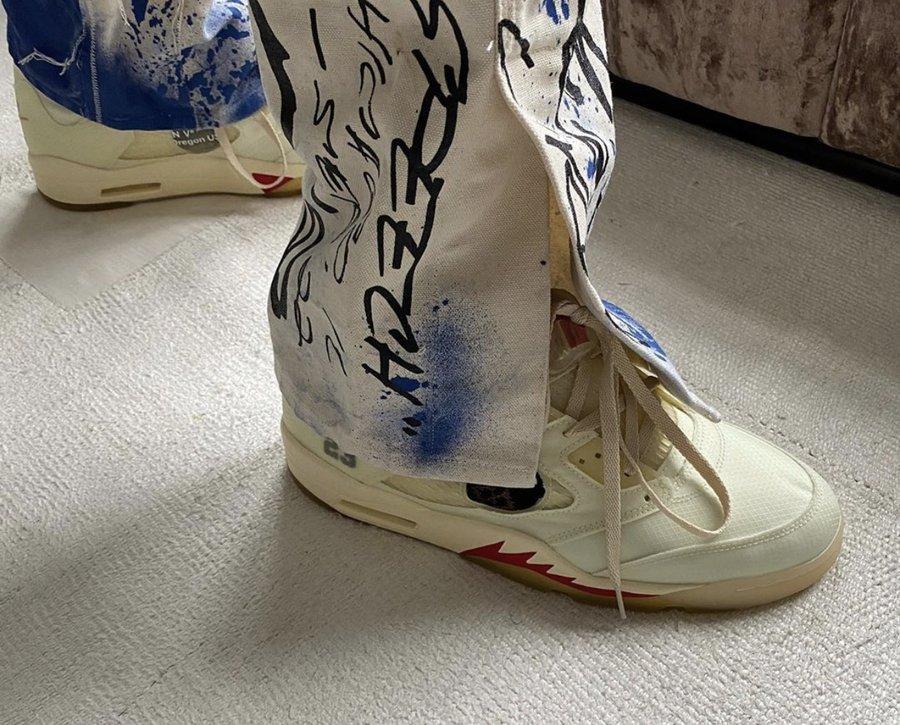 OFF-WHITE,AJ5,Air Jordan 5,CT8  第二双 OFF-WHITE x AJ5 年底发售!Virgil 展示土豪穿法!
